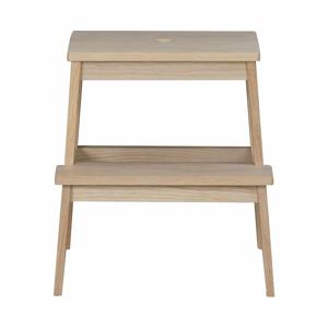 Matne lakovaná dubová stolička/schodíky Rowico Gorgona