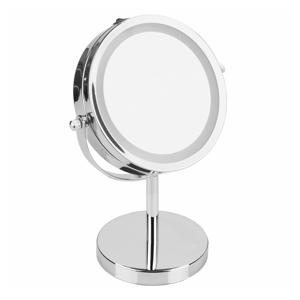 Strieborné zrkadlo InterDesign Lighted