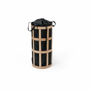 Svetlý kôš na bielizeň s čiernym vakom Wireworks Cage