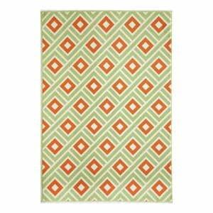 Oranžovo-zelený vonkajší koberec Floorita Greca Green, 160×230 cm