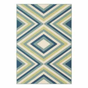 Zeleno-modrý vonkajší koberec Floorita Rombi Blue Green, 160x230cm