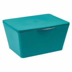 Petrolejovomodrý kúpeľňový box Wenko Brasil