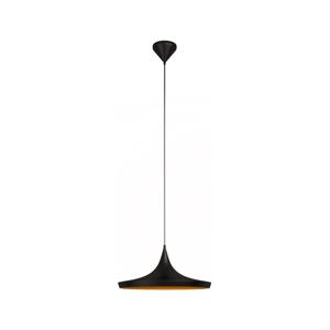 Čierne závesné svietidlo s detailom v zlatej farbe Awe