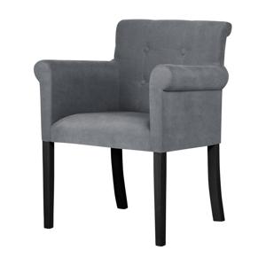 Sivá stolička s čiernymi nohami Ted Lapidus Maison Flacon