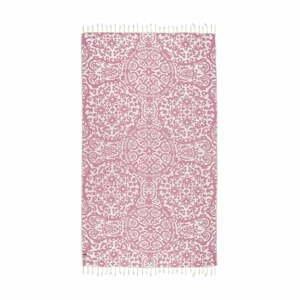Ružová hammam osuška Kate Louise Camelia, 165×100cm