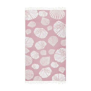 Ružová hammam osuška Kate Louise Fiona, 165×100cm