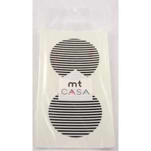 Sada 10 čierno-bielych samolepiek washi páska MT Masking Tape Casa
