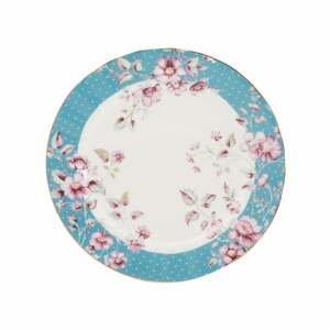 Modro-biely porcelánový dezertný tanier Creative Tops Ditsy