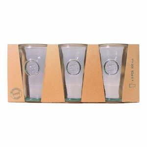 Sada 3 pohárov z recyklovaného skla Esschert Design Authentic, 300 ml
