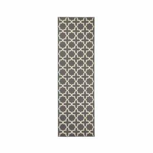 Behúň v sivej farbe s bielymi detailmi Hanse Home Joanne, 80×200 cm