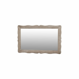 Zrkadlo v krémovobielomráme z topoľového dreva Livin Hill Pesaro, výška 60 cm
