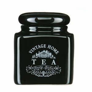 Čierna keramická dóza na čaj Premier Housewares Vintage Home