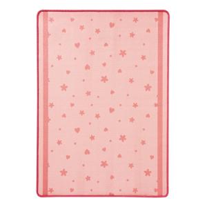 Detský ružový koberec koberec Zala Living Stars&Hearts, 100 × 140 cm