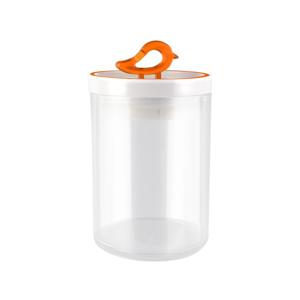 Oranžová dóza Vialli Design Livio, 800 ml