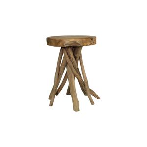 Stolička z teakového dreva HSM collection Branch, ⌀33cm