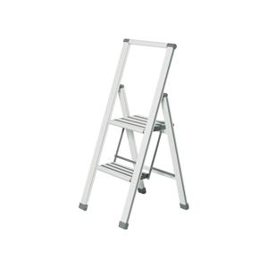 Biele skladacie schodíky Wenko Ladder Alu, 101 cm