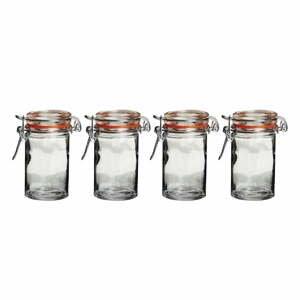 Sada 4 sklenených dóz Premier Housewares