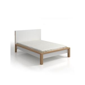 Dvojlôžková posteľ z borovicového dreva s úložným priestorom SKANDICA InBig, 200×200cm