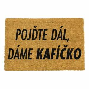 Rohožka z prírodného kokosového vlákna Artsy Doormats Kafíčko, 40 x 60 cm