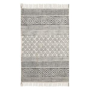 Čierno-biely bavlnený vzorovaný koberec A Simple Mess Mille, 90×60 cm