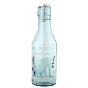 Sklenená fľaša z recyklovaného skla na mlieko Ego Dekor Authentic, 1litr