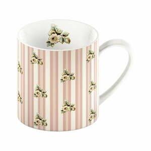 Ružový porcelánový hrnček s pruhmi Creative Tops Cottage Flower, 330 ml