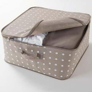 Béžový box na uloženie oblečenia Compactor Dots, 46×20,5cm