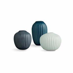 Súprava 3 kameninových váz Kähler Design Hammershoi Miniature Cold Palette