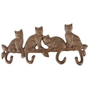 Nástenné liatinové háčiky Esschert Design Mačací svet