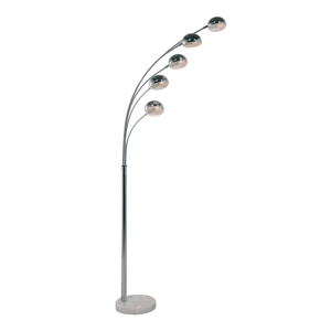 Stojacia lampa v striebornej farbe Kare Design Five Fingers