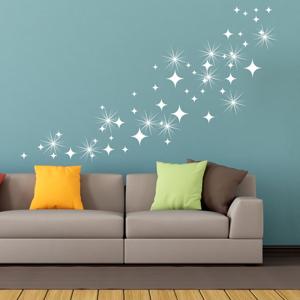 Sada 50 samolepiek so Swarovski elementmi Ambiance White Star