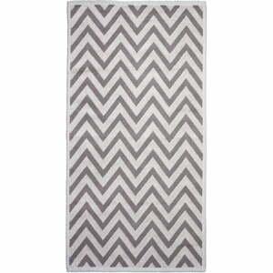 Béžový bavlnený koberec Vitaus Zikzak, 80×150cm