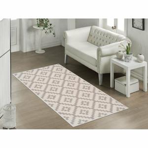 Odolný bavlnený koberec Vitaus Art Bej, 120 x 180 cm