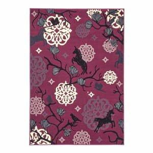 Detský fialový koberec Zala Living Unicorn, 140×200cm