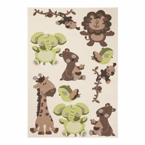 Detský zeleno-hnedý koberec Zala Living Animals, 140×200cm