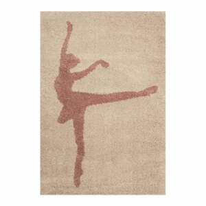 Detský hnedý koberec Zala Living Ballerina, 120×170cm