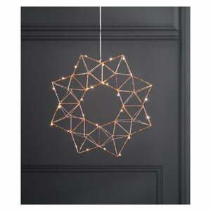 Medená svetelná LED dekorácie Star Trading Edge, ø 30 cm