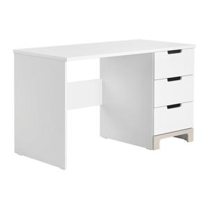 Bielo-sivý písací stôl Pinio Mini, dĺžka 120cm
