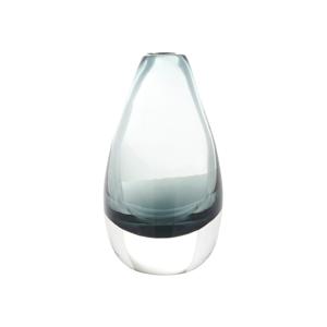 Antracitovosivá priehľadná váza A Simple Mess Kogle, výška 12cm