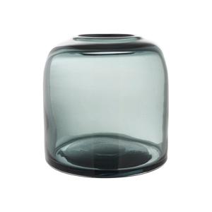 Modrá sklenená váza A Simple Mess Hat, ⌀12cm