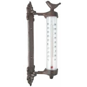 Liatinový nástenný teplomer Ego Dekor Bird, výška 27,3 cm