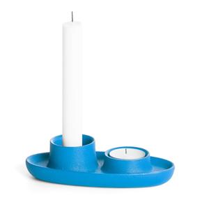 Modrý svietnik EMKO Aye Aye Two Candles