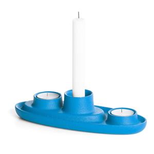 Modrý svietnik EMKO Aye Aye Three Candles