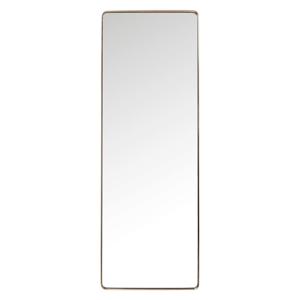 Zrkadlo s rámom v medenej farbe Kare Design Rectangular, 200 x 70 cm