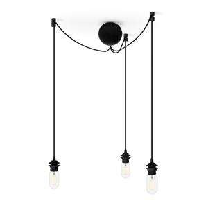 Čierny trojitý závesný kábel k svietidlám VITA Copenhagen Cannonball