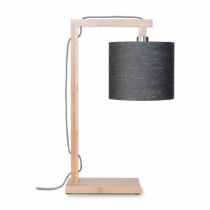 Stolová lampa s tmavosivým tienidlom a konštrukciou z bambusu Good&Mojo Himalaya