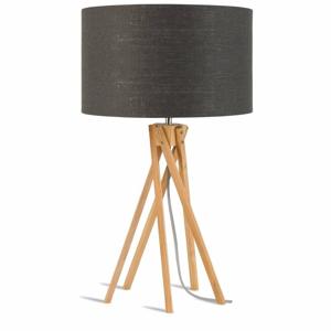 Stolová lampa s tmavosivým tienidlom a konštrukciou z bambusu Good&Mojo Kilimanjaro