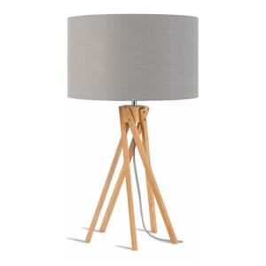 Stolová lampa so svetlosivým tienidlom a konštrukciou z bambusu Good&Mojo Kilimanjaro
