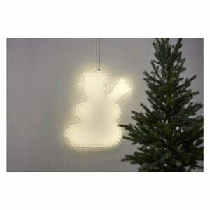 Závesná svietiaca LED dekorácia Star Trading Lumiwall Snowman