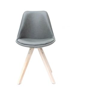 Sivá jedálenská stolička LABEL51 Bari